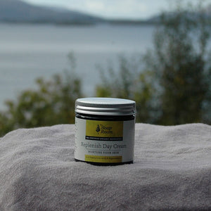 organic face cream antiaging plant based ingredients natural skin care handmade moisturiser hyaluronic acid day cream night cream free from formula essential oils lemon rosemary made in galway ireland