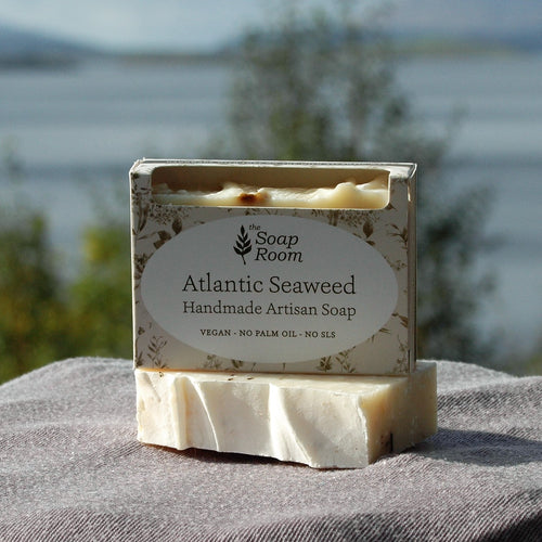 vegan handmade soaps atlantic seaweed natural soap sea salt artisan soap handmade in galway