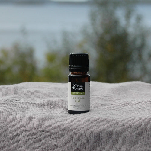 tea tree essential oil room spray room scented oil burner fresh scent smell organic disinfectant antiseptic antifungal athletes foot wart fungus bug repellant made in galway ireland