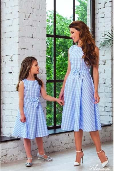 Matching Sleeveless Sundress for Mom & Me - Pinkybaby.in