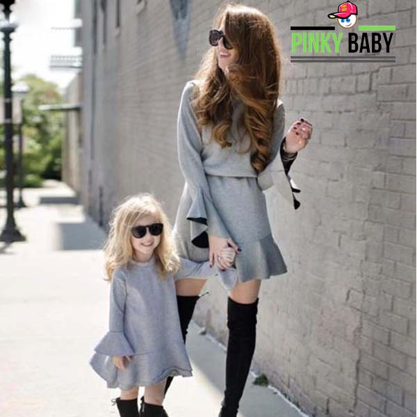 Flare Sleeve Mom and Daughter Outfit