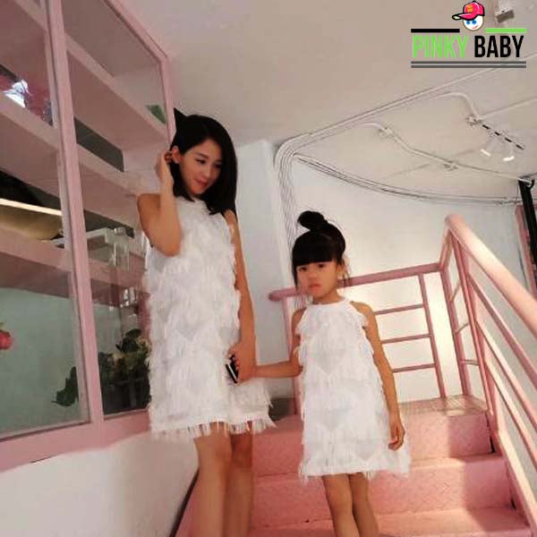 Matching Tassel Dress for Mom and Me