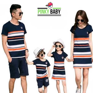 Striped Matching Family Dress
