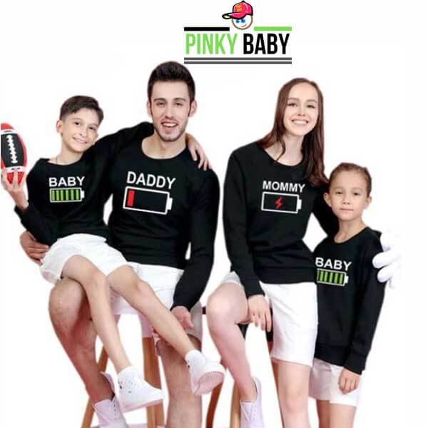 Full Sleeve Family T Shirt for Mom Son Dad and Daughter