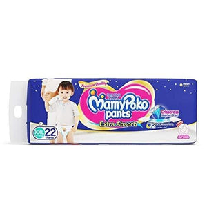 MamyPoko Pant Extra Absorb XXL Size Diapers (22 Count) - Pinkybaby.in