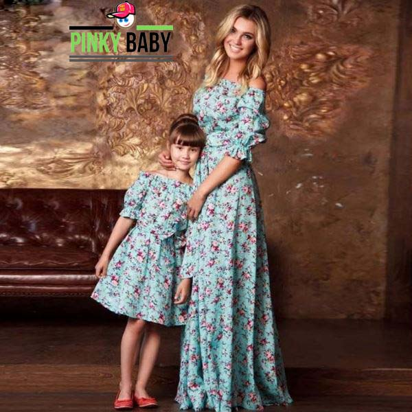 Floral Outfit for Mom & Daughter