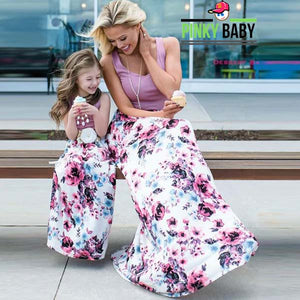 Floral Mom and Daughter Matching Dress