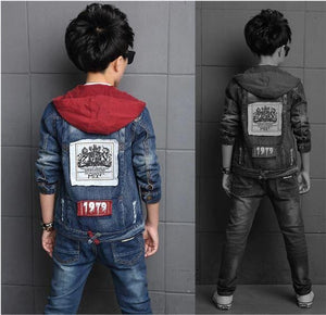 Hooded Denim Jacket and Jeans Set for Teen Boys - Pinkybaby.in