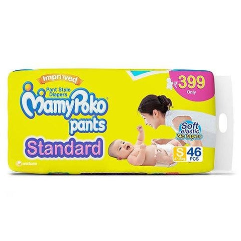 MamyPoko Pants Standard Diapers, Small (Pack of 46) - Pinkybaby.in