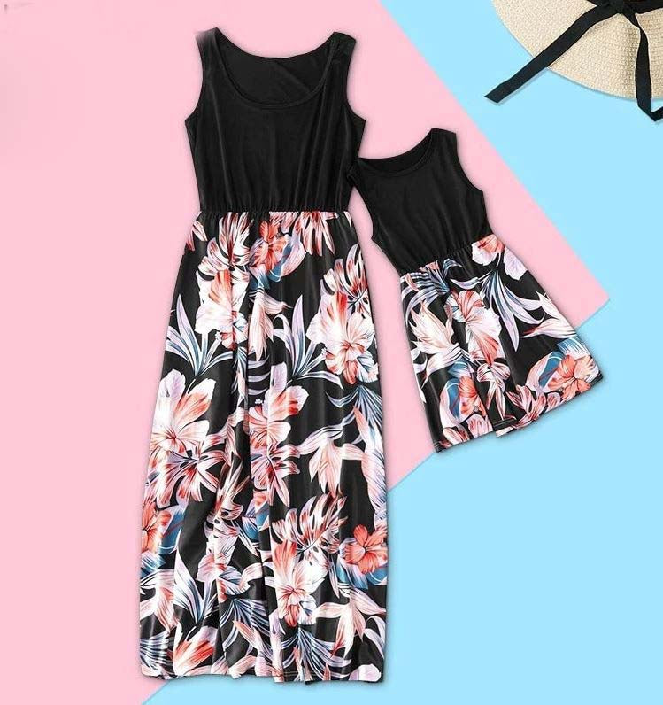 Mom and Daughter Sleeveless Outfit