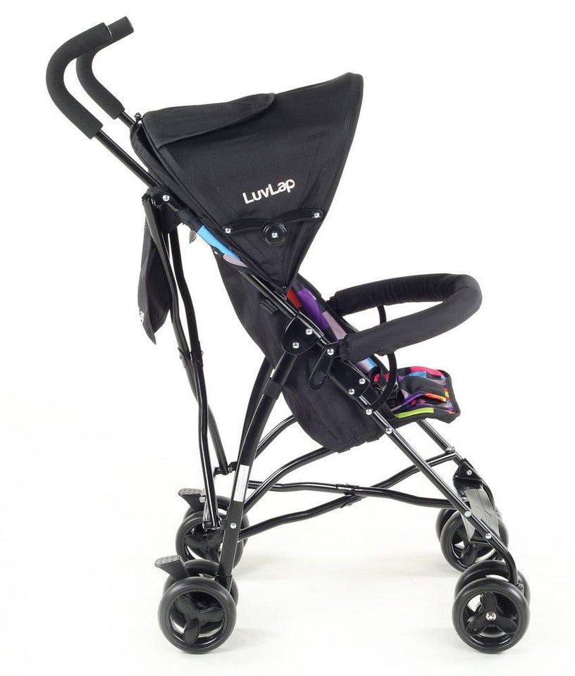 LuvLap Tutti Frutti Baby Stroller Buggy (Printed Black) - Pinkybaby.in