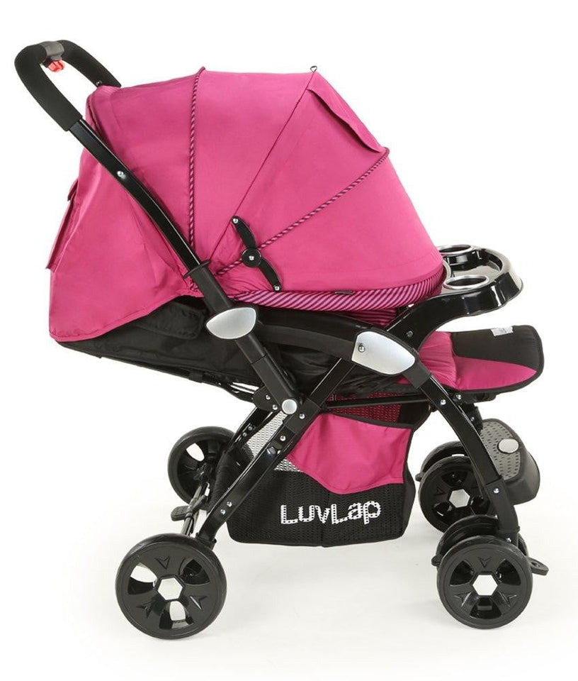 LuvLap Galaxy Baby Stroller and Pram (Pink/Black) - Pinkybaby.in