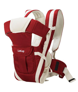 LuvLap Elegant Baby Carrier (Red) - Pinkybaby.in