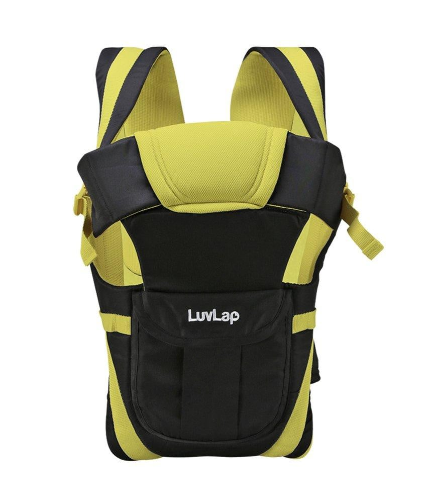 LuvLap Elegant Baby Carrier (Green and Black) - Pinkybaby.in