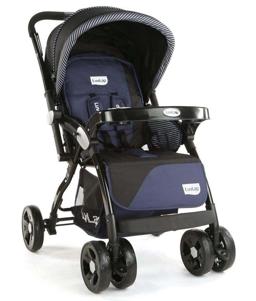 LuvLap Galaxy Baby Stroller and Pram (Black) - Pinkybaby.in