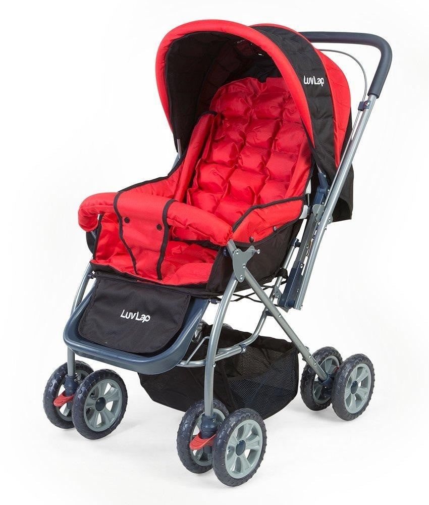 LuvLap StarShine Baby Stroller (Red) - Pinkybaby.in