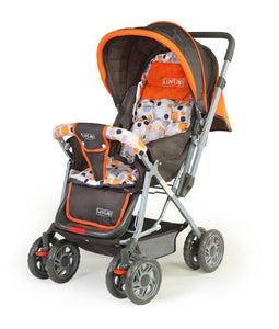 Luvlap Sunshine Baby Stroller (Orange) - Pinkybaby.in