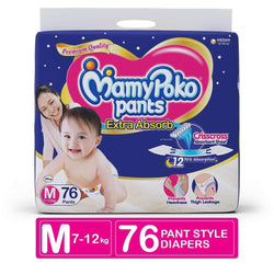 MamyPoko Pants Extra Absorb Diaper, Medium (Pack of 76) - Pinkybaby.in