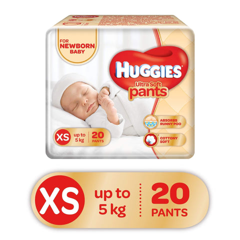 Huggies Ultra Soft Pants Diapers, XS (Pack of 20) - Pinkybaby.in