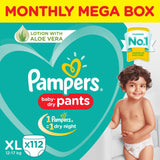 Pampers New Diapers Pants Monthly Box Packs, X-Large (112 Count) - Pinkybaby.in