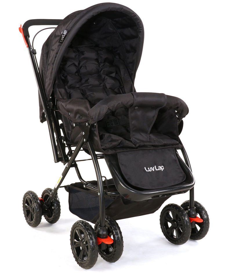 Luvlap Star Shine Baby Stroller (Black) - Pinkybaby.in