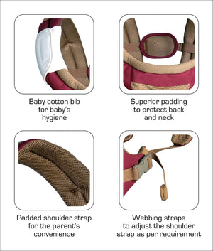Luvlap Royal Hip Seat Carrier (Purple) - Pinkybaby.in