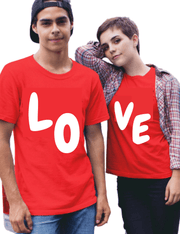 Love Printed Couple Matching T-Shirt