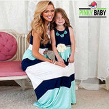 Striped Long Maxis for Mom and Daughter
