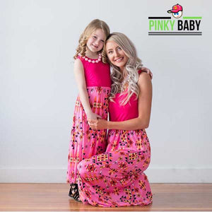 Mom and Daughter Matching Long Dress