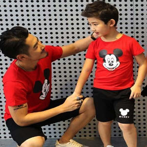 Mickey Mouse Matching Dad Son Outfit - Pinkybaby.in