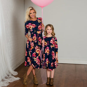 Floral Matching Outfit for Mom and Daughter