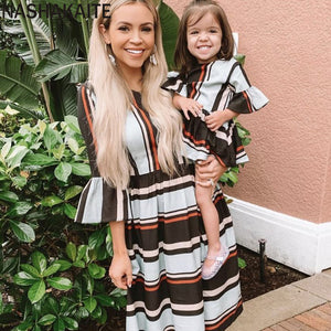 Flare Sleeved Mom and Daughter Outfit