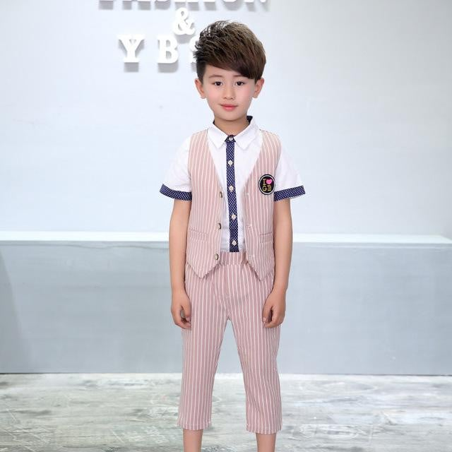 European Style Striped Formal Suit for Boys - Pinkybaby.in