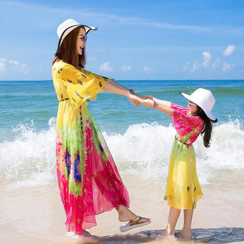 Mother and Daughter Matching Summer Dress - Pinkybaby.in
