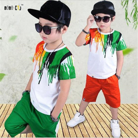 Two Pieces Colorful Sportswear for Boys