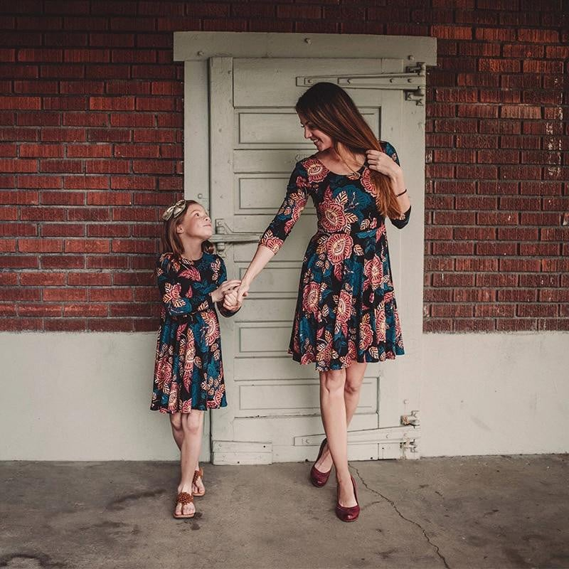 Matching Floral Mini Skirt for Mom & Daughter - Pinkybaby.in