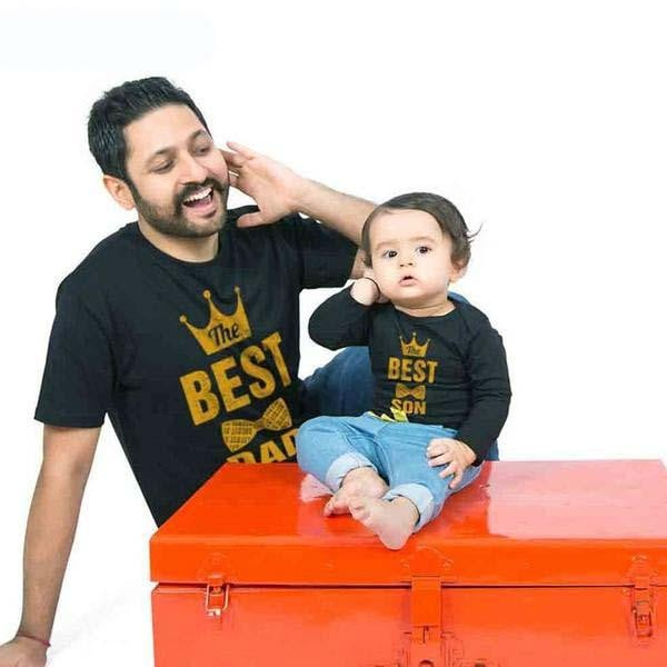 Father and Kid Matching T-Shirt - Pinkybaby.in