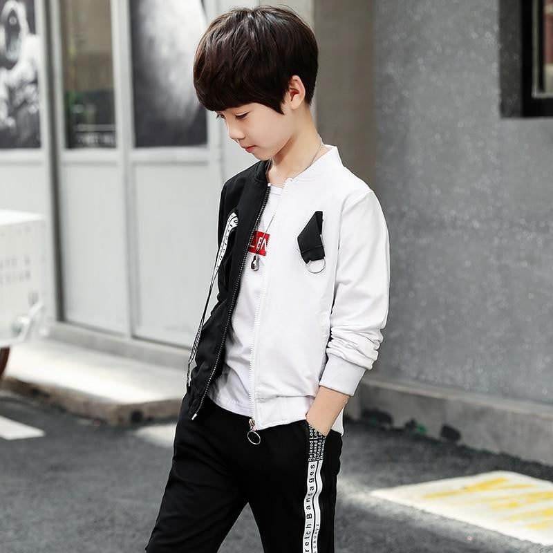 Unisex Sports Suit Three-piece Jacket + T-shirt + Pants
