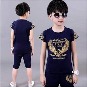 Dragon Printed T-Shirt and Shorts for Boys - Pinkybaby.in