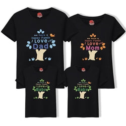 Matching Black T-Shirt for Dad Son - Pinkybaby.in