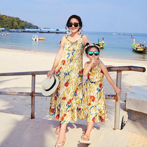 Mother and Daughter Summer Long Dress - Pinkybaby.in