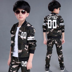 Children's Sports Camouflage Dress Set - Pinkybaby.in