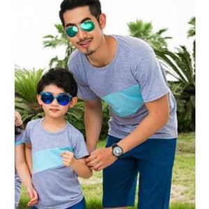Striped T-Shirt for Dad Son - Pinkybaby.in
