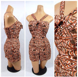 "1960s Tiki Swimsuit ""true vintage'"
