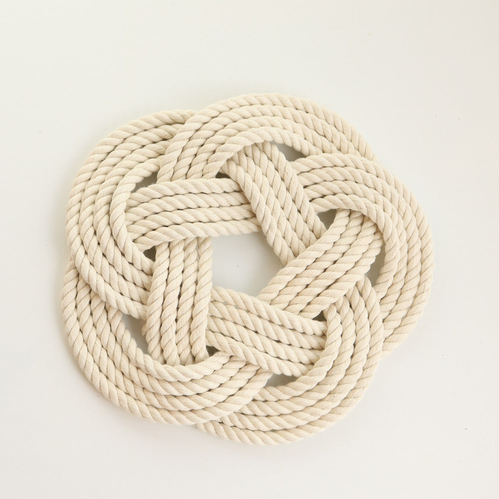 Woven Trivet Natural White - small