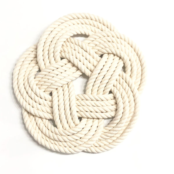 Woven Trivet Natural White - Large