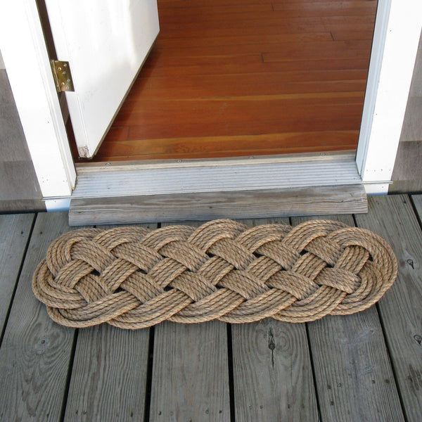 "Door Mat, 5 Ply Prolong Knot 41"" x 15"" Wholesale - Mystic Knotwork nautical knot"