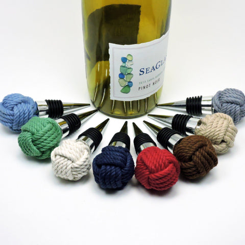 Nautical Monkey Fist Bottle Stopper Wholesale - Mystic Knotwork nautical knot