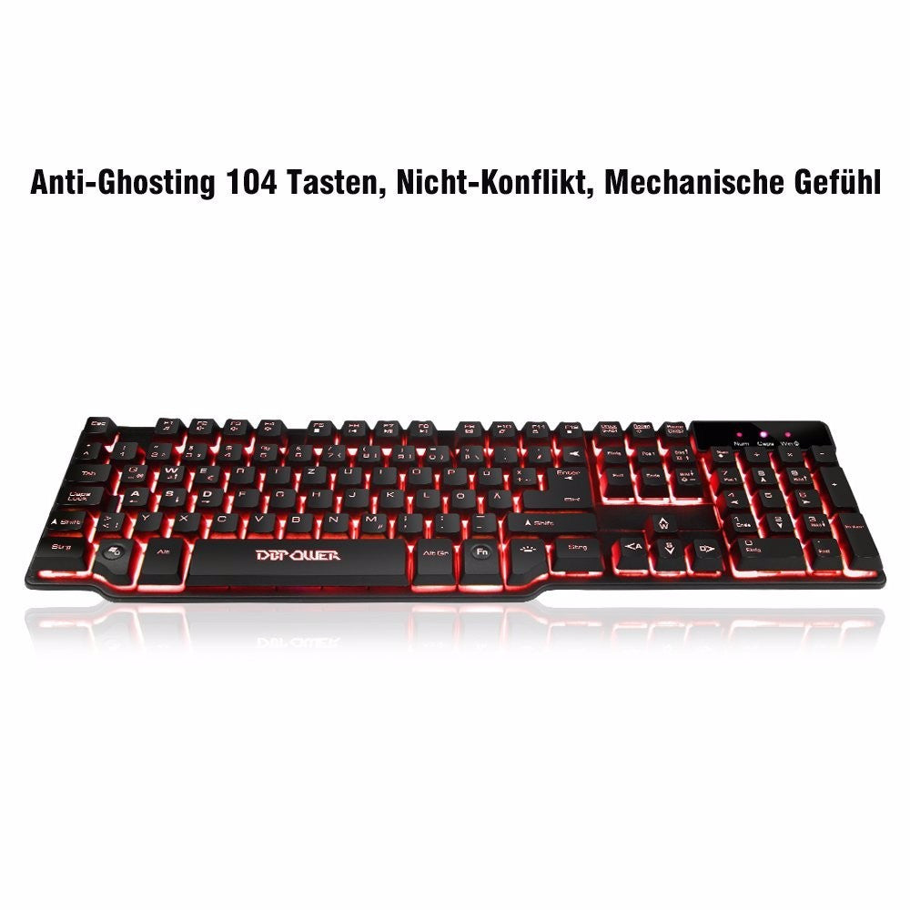 DB-POWER BGM0087 Gaming Tastatur - GAMERS.black