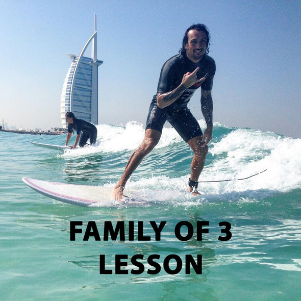 Family of 3 Private Surf Lesson